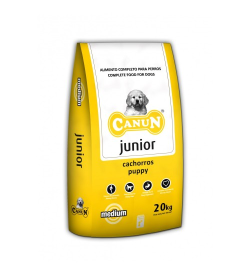 Canun Premium Puppy-Junior - Pui,Somon si Orez - 20 kg